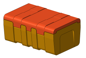 Development of moulds and parts, 3D model 1 – Box 530 x 325 x 200, Omnipack