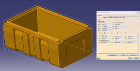 Development of moulds and parts, 3D model 2 – Box 530 x 325 x 200 – tub, Omnipack