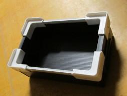 Cardboard-plastic crate made of polypropylene