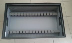 Cardboard-plastic crate, packaging