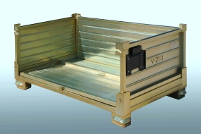 Detail of a metal pallet – sides and rear